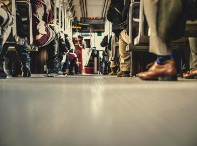 Feet on the bus